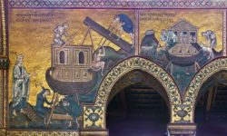 costruzione arca di Noè e animali a raccolta